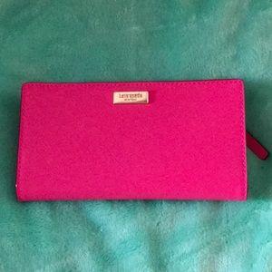 Kate spade peony pink wallet